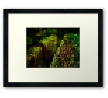 Study in green Framed Print