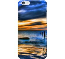 Brilliant Sunset at Washed Out Pier iPhone Case/Skin