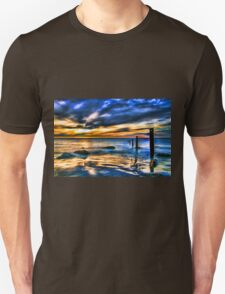 Brilliant Sunset at Washed Out Pier T-Shirt