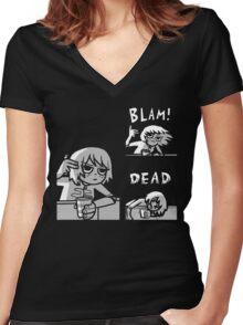 Kim Pine - Gun Women's Fitted V-Neck T-Shirt