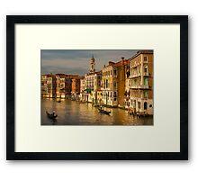 Gondolas Sailing Along the Canal of Venice, Italy Framed Print