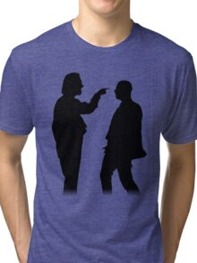 Bottom silhouette - Richie and Eddie Tri-blend T-Shirt