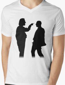 Bottom silhouette - Richie and Eddie Mens V-Neck T-Shirt