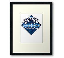 Doctor Who Diamond Logo - Blue Framed Print
