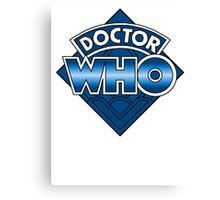 Doctor Who Diamond Logo - Blue Canvas Print