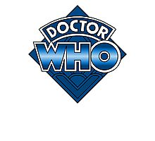 Doctor Who Diamond Logo - Blue Photographic Print