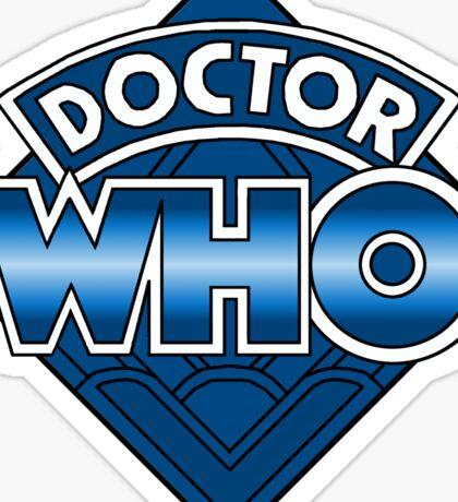 Doctor Who Diamond Logo - Blue Sticker