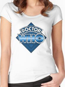 Doctor Who Diamond Logo - Blue Women's Fitted Scoop T-Shirt