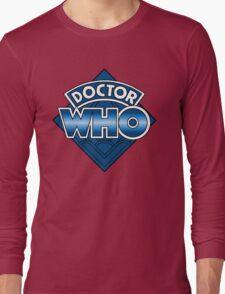 Doctor Who Diamond Logo - Blue Long Sleeve T-Shirt