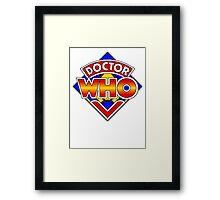 Doctor Who Diamond Logo - Colourful Framed Print