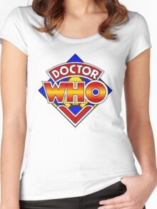 Doctor Who Diamond Logo - Colourful Women's Fitted Scoop T-Shirt