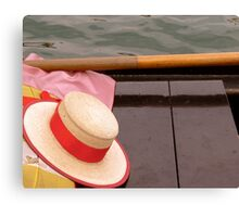 Hat and Oar Canvas Print