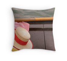 Hat and Oar Throw Pillow