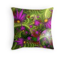 Wallpaper Violet Themed Spring Flowers Throw Pillow