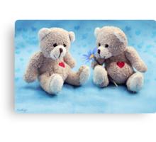 Teddy Love Canvas Print