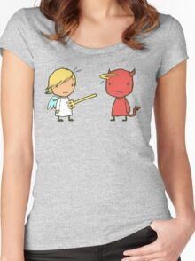good vs evil Women's Fitted Scoop T-Shirt