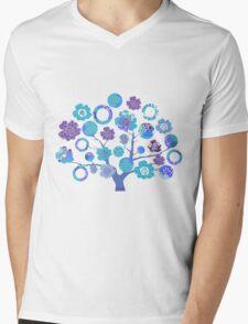 tree of life - blue blossoms Mens V-Neck T-Shirt