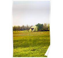 BARN AND PEAR TREES Poster
