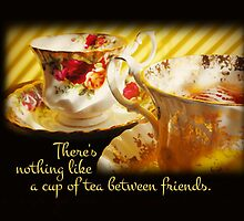 Tea Between Friends (Card) by Tracy Friesen