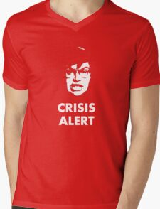 Garret Crisis Alert  Mens V-Neck T-Shirt