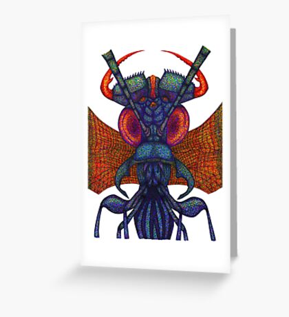 Insect alien Greeting Card