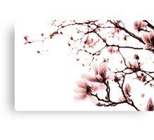 Magnolia - monochrome Canvas Print