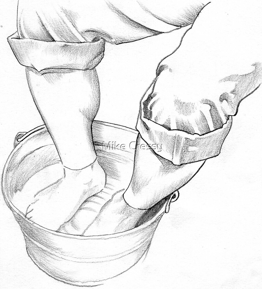 My aching feet by Mike Cressy