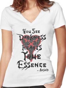 Kingdom Hearts: Ansem Quote  Women's Fitted V-Neck T-Shirt
