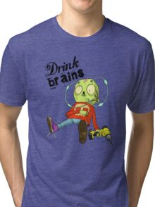 Drink Brains Tri-blend T-Shirt