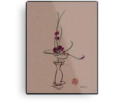 Life  -  Sumi e  Ikebana Zen drawing Metal Print