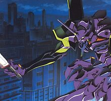Neon Genesis Evangelion - Unit-01 Knife (Cleaned) by frc qt