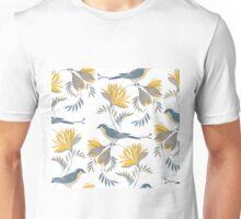pretty bird pattern with yellow flower T-Shirt