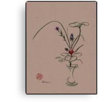 Autumn Chill - Sumi e  Ikebana Zen drawing Canvas Print