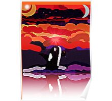 Orca Sunset Dance Poster