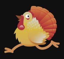 (NEW) Turkey bird running Baby Tee