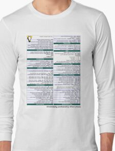 Linux Cheat Sheet Shirt Long Sleeve T-Shirt