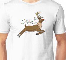 Festive Reindeer Unisex T-Shirt