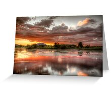 Swamp Glass 2 Greeting Card