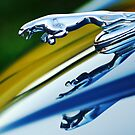 Jaguar Car Hood Ornament by Jill Reger