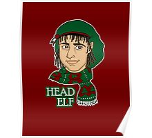 Head Elf - Red Poster