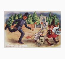 Young Graverobbers  (Vintage Halloween Card) by Welte Arts & Trumpery