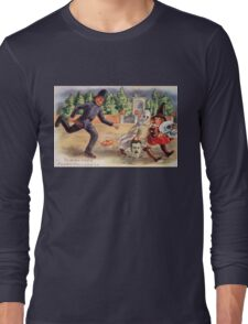 Young Graverobbers  (Vintage Halloween Card) Long Sleeve T-Shirt