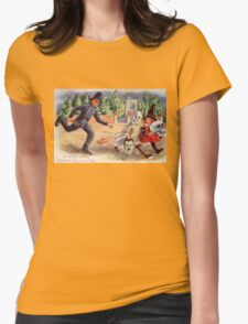 Young Graverobbers  (Vintage Halloween Card) Womens Fitted T-Shirt
