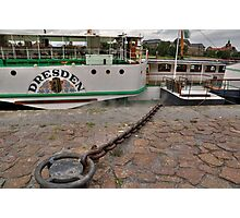 PD-Dresden  steam powered Riverboat Photographic Print