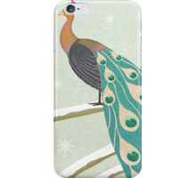 winter christmas peacock iPhone Case/Skin