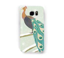winter christmas peacock Samsung Galaxy Case/Skin