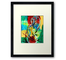 Woman Bass Framed Print