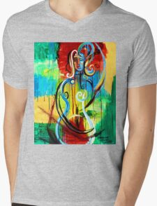 Woman Bass Mens V-Neck T-Shirt