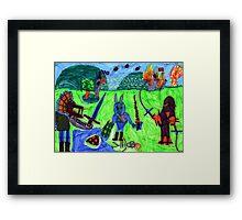 The last battle Framed Print