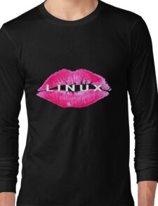 Linux Lips Long Sleeve T-Shirt